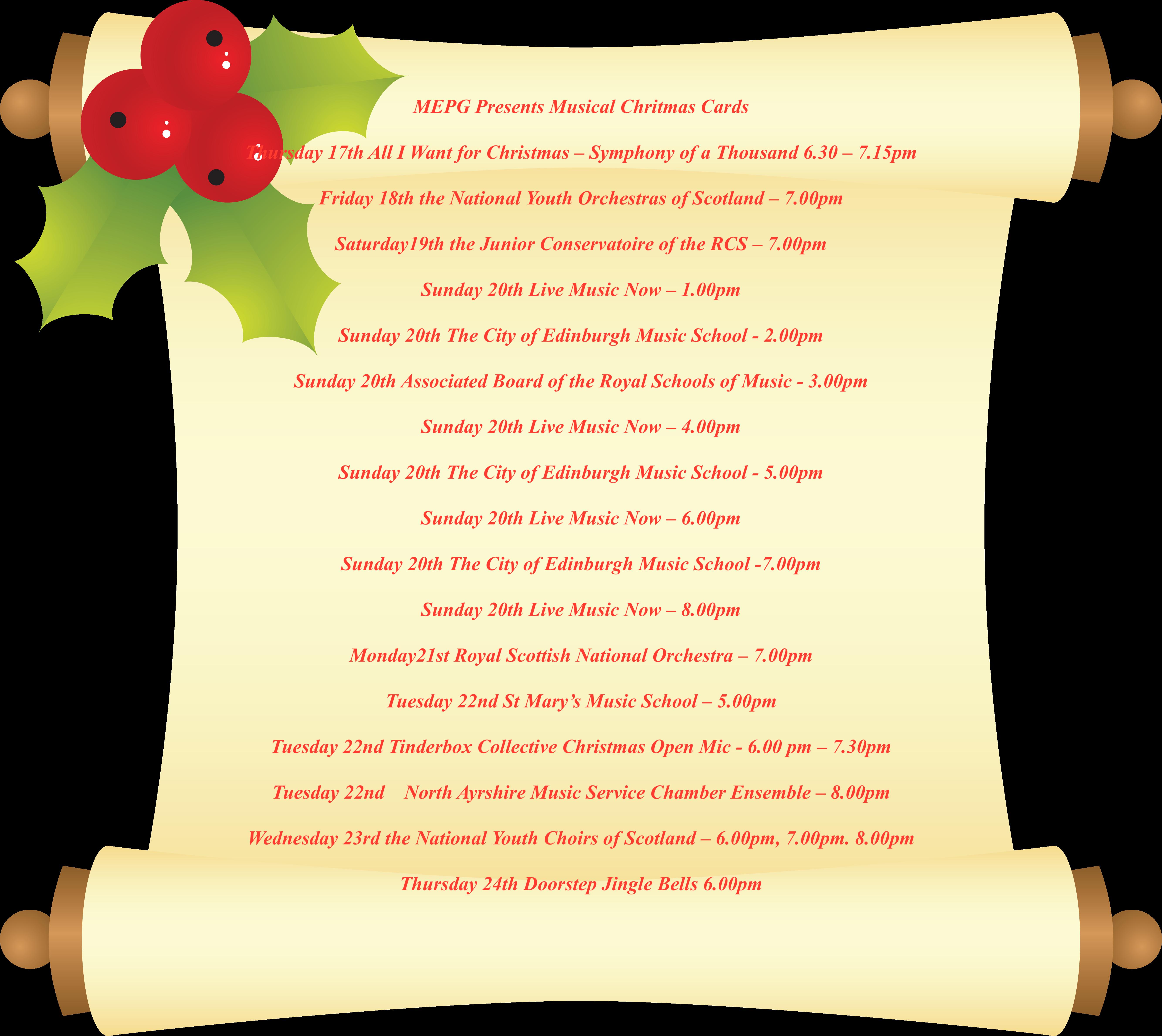 Musical Christmas Cards Festival