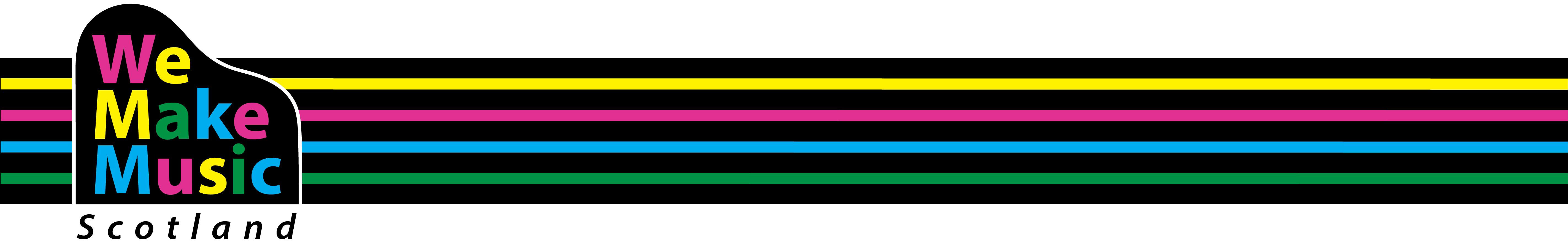 Colourful border logo left top